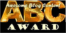 We have won the ABC award for Awesome Blog Content